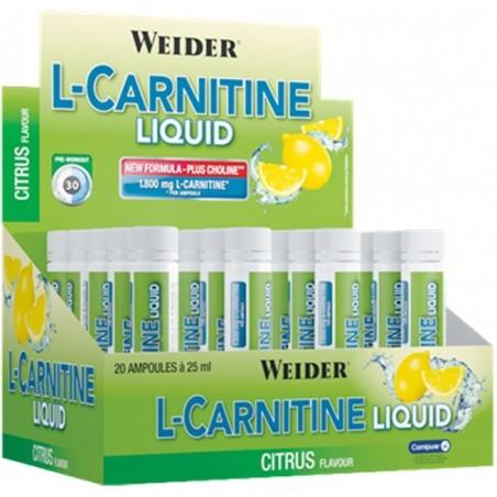 L-Carnitine Liquid, Citrus - 20 x 25 ml.