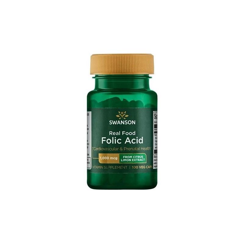 Acide Folique alimentaire 1000 mcg - 100 caps végétaliennes