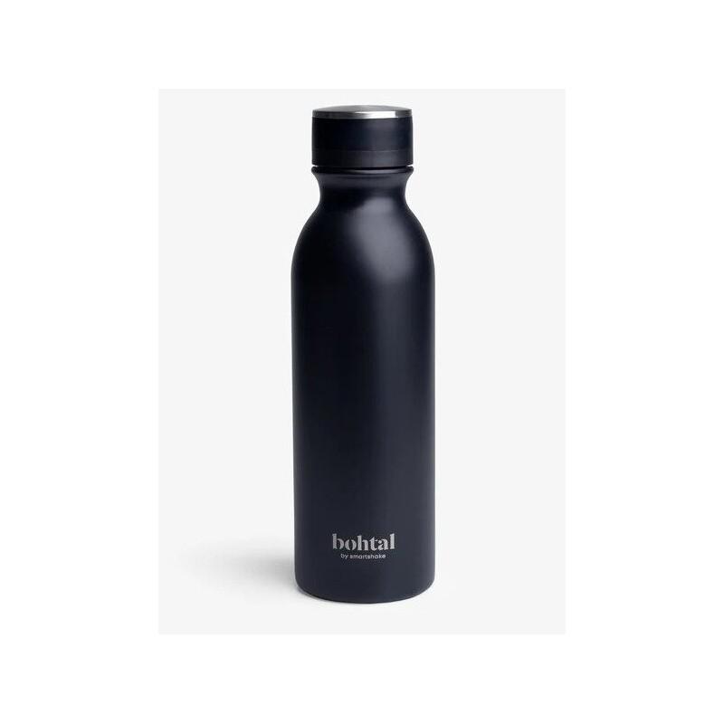 Botella aislante Bohtal, negra, 600 ml