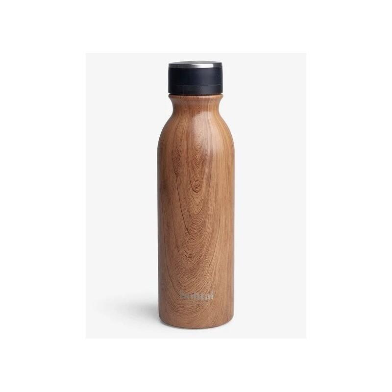 Botella aislante Bohtal, madera, 600 ml