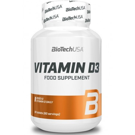 Vitamine D3, 50 mcg - 60 tablettes
