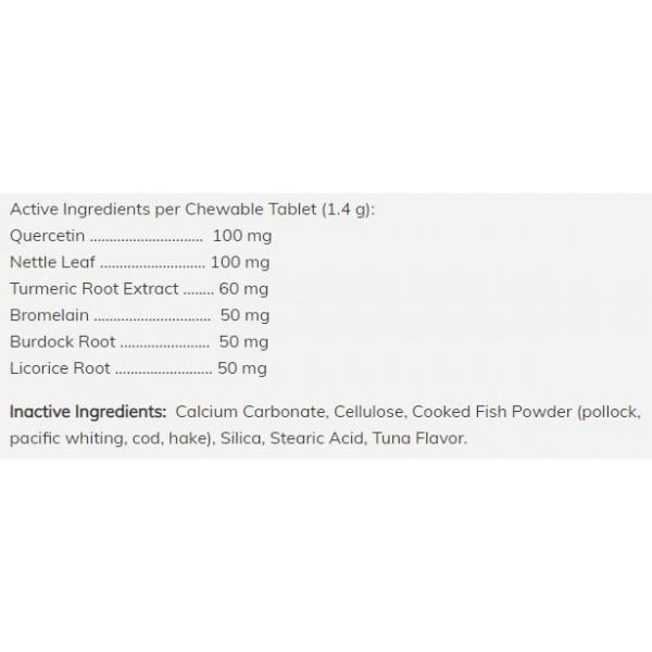 Comprimés à mâcher contre les allergies des animaux de compagnie - 75 tablettes