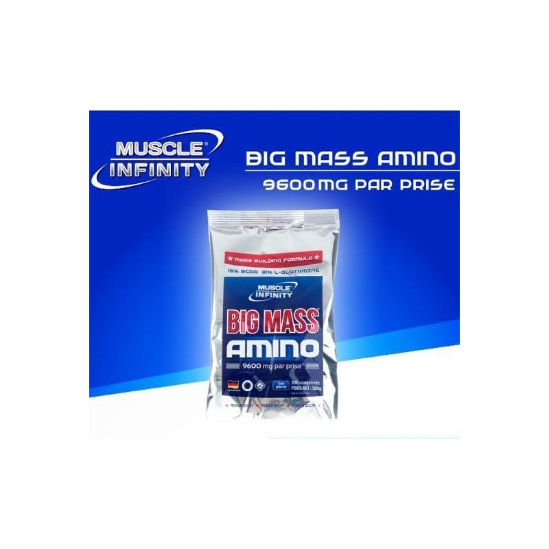 Big Mass Amino 200 comprimés