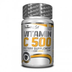 Vitamin C 500 120 tablettes à mâcher Biotech USA