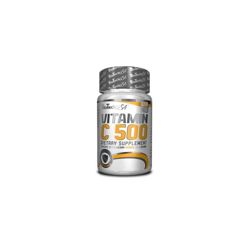 Vitamin C 500 120 tablettes à mâcher Biotech USA