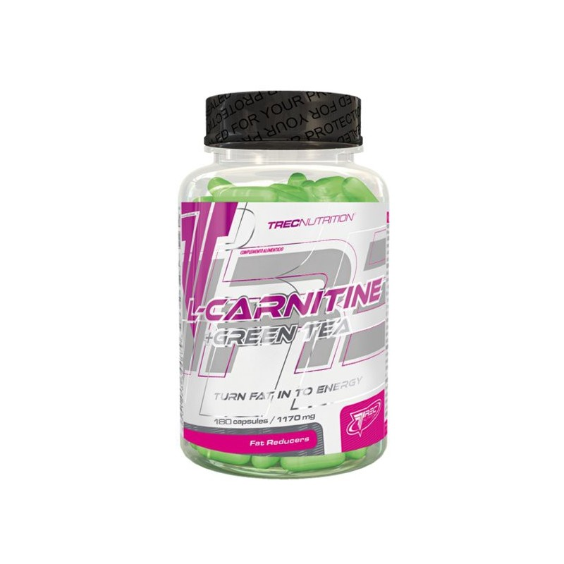 L-Carnitine + Green Tea 180 capsules Trec Nutrition avec du thé vert