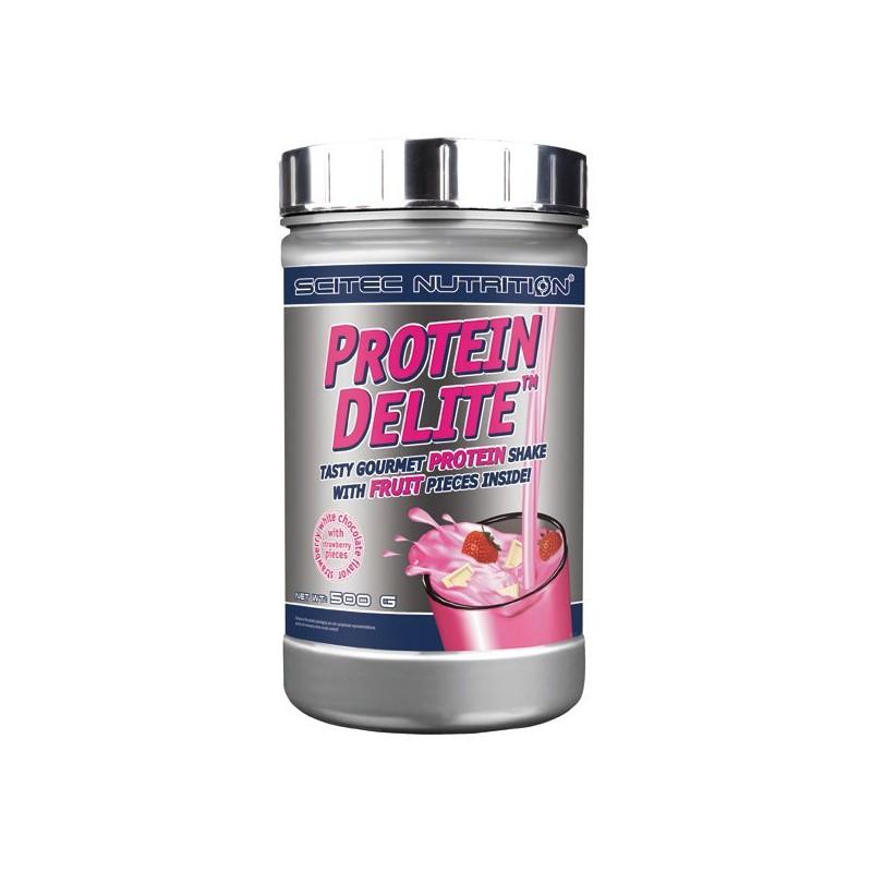 Protein Delite 500 gr Scitec Nutrition chocolat blanc fraise