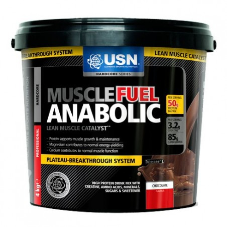 Muscle Fuel Anabolic 4000 gr chocolat USN Nutrition - Gainer riche en protéines