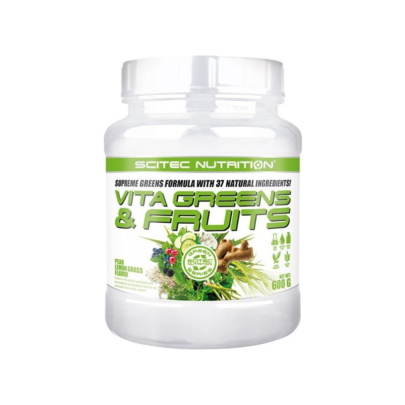 Vita Greens & Fruits (600 g) - Poire Citron - Scitec Green Line