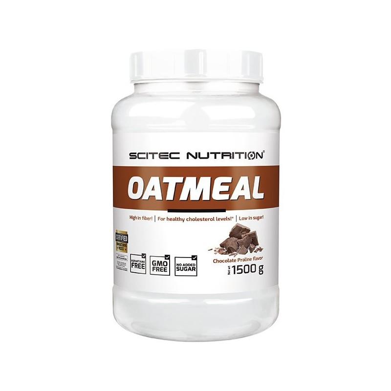 Oatmeal chocolat praliné, 1500 g, flocons d'avoine, Scitec Nutrition