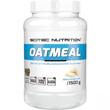 Oatmeal chocolat blanc, 1500 g, flocons d'avoine, Scitec Nutrition
