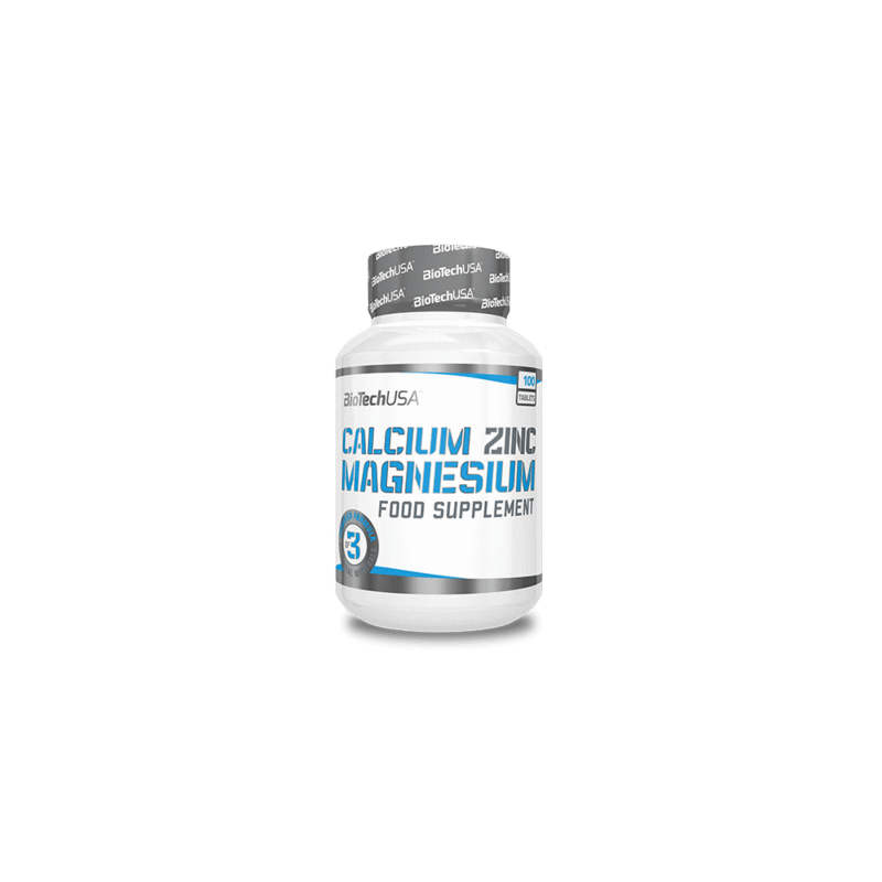 Calcium Zinc Magnesium - 100 comprimés - Biotech USA