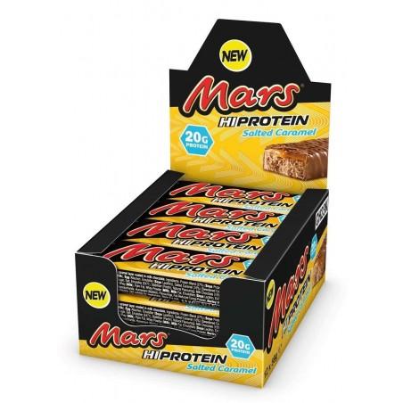 Mars Caramel salé barres protéinées (boite de 12 barres)