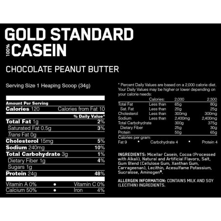 Gold Standard 100% Casein, Chocolate Supreme - 1820g