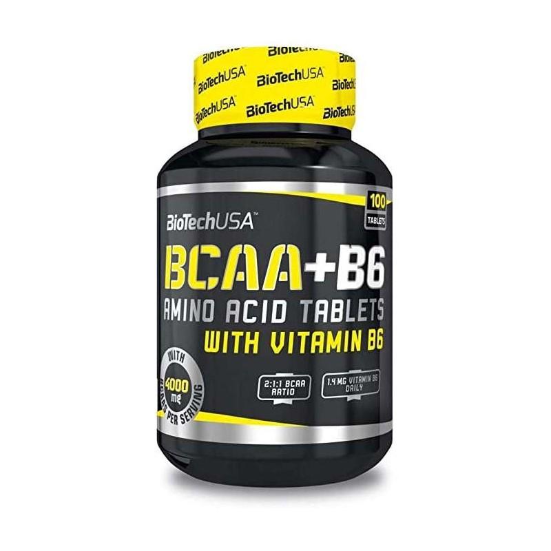 BCAA + B6 100 capsules biotech usa
