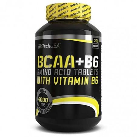 BCAA + B6 200 capsules biotech usa
