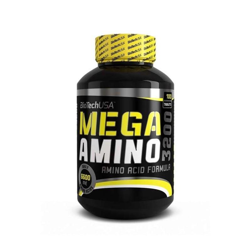 Mega Amino 3200 100 tablettes biotech usa