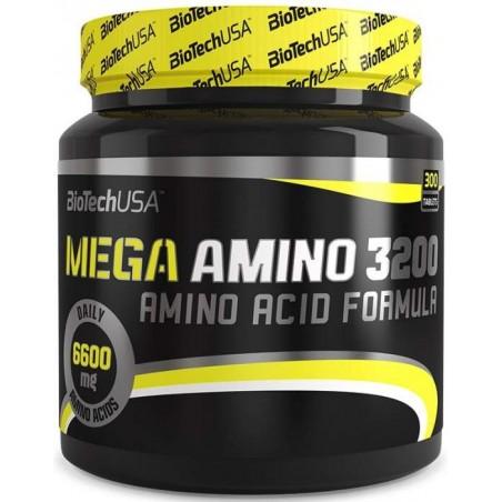 Mega Amino 3200 300 tablettes biotech usa