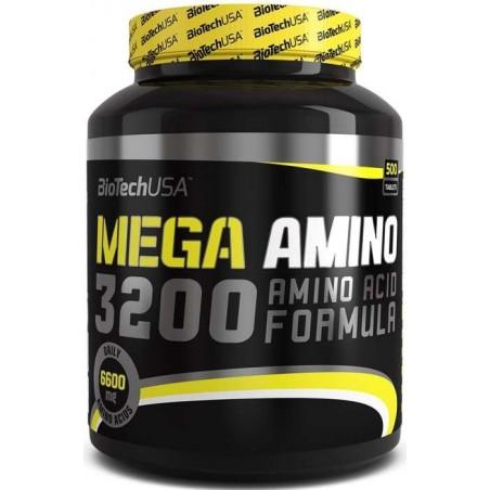 Mega Amino 3200 500 tablettes biotech usa