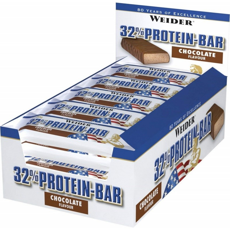 Weider 32% Protein Bar - Boite de 24 barres