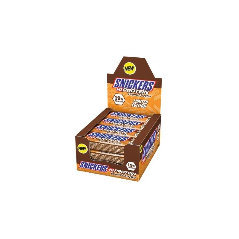 Snickers Hi Protein Bars, Beurre de cacahuètes - 12 barres