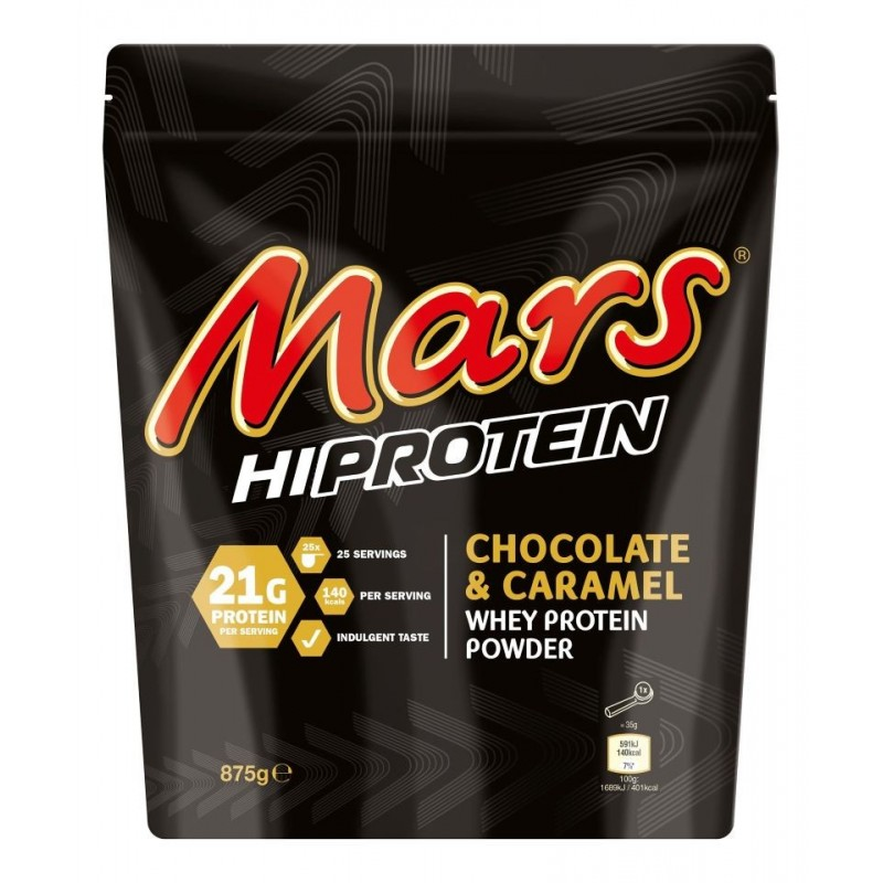 Mars Hi Protein Whey, Chocolat & Caramel - 875 gr