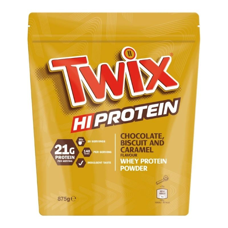 Twix Hi Protein Whey, Biscuit Chocolat et Caramel - 875 gr